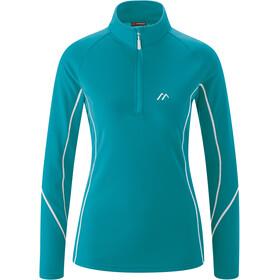 Maier Sports Uschi LS Turtleneck Top Women, turquoise